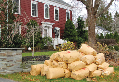 Southold Town will begin its yard waste pickup November 17. (Credit: Beth Young, file)