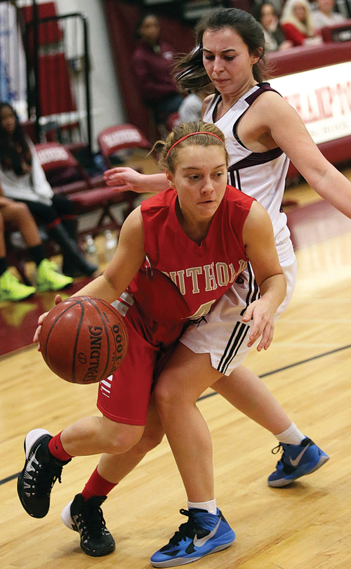 Southold/Greenport's all-conference junior guard, Madison Tabor, and her teammates are playing for a new coach, Chris Golden. (Credit: Garret Meade, file)