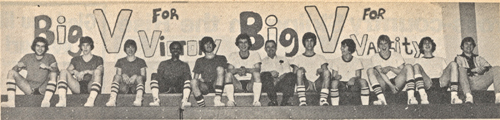 The 1977-78 Mattituck boys basketball team, led by coach Jack Hussnatter (seventh from the right). (Credit: file photo)