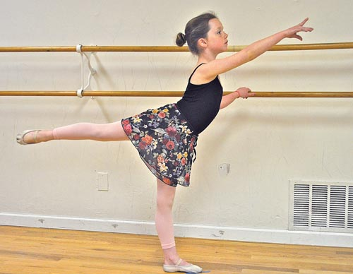 Little ballerina selected for competitive program in NYC
