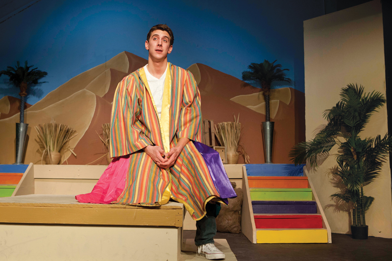 Brett Chizever played the title role in 'Joseph and the Amazing Technicolor Dreamcoat' at North Fork Community Theater in 2013. (Credit: Katharine Schroeder)