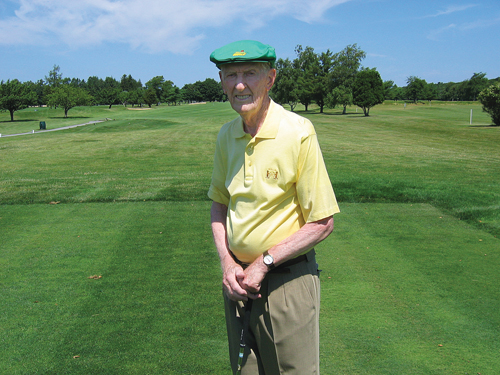 Chet Zelenski, 91, of Greenport has been a member of Southampton Golf Club for 71 years. (Credit: Jay Dempsey)