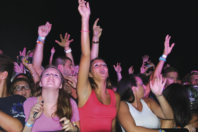 Concert goers enjoy the party at last year's music festival. (Credit: Carrie Miller, file)