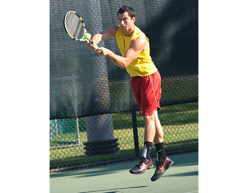 GARRET MEADE FILE PHOTO | Chris Ujkic has been the No. 1-ranked men's open singles player in the United States Tennis Association's eastern section for nearly two years.
