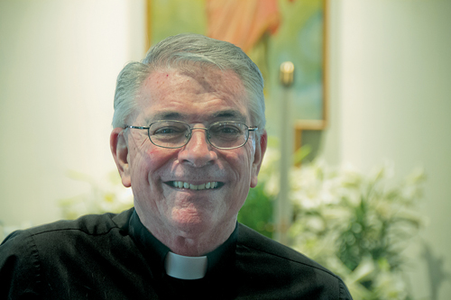 Father Thomas Murray is leaving St. Agnes Church in Greenport after a dozen years. Next stop: St. Therese of Lisieux Church in Montauk. (Credit: Paul Squire, file)