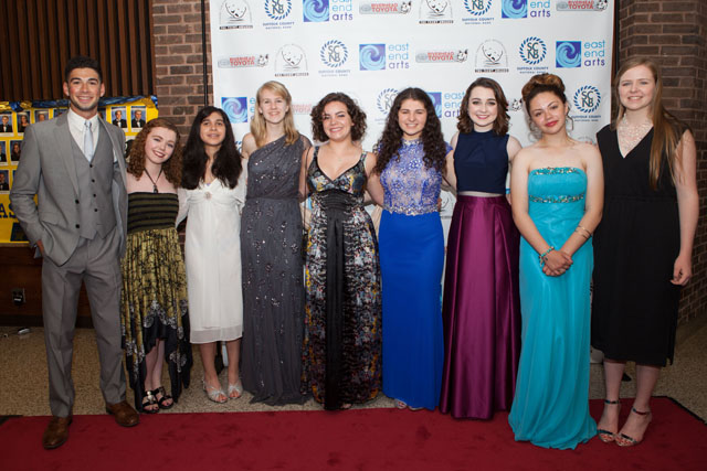 Students from Mattituck High School on the red carpet at the 14th Annual Teeny Awards. (Credit: Katharine Schroeder)