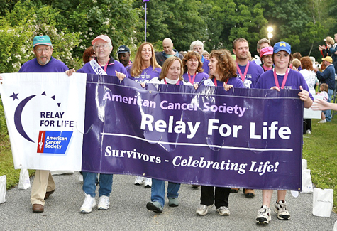 SUFFOLK TIMES FILE PHOTO | North Fork cancer survivors walk in the 2007 Relay for Life.