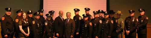 Twenty-three county cops were honored Tuesday morning. (Courtesty photo)