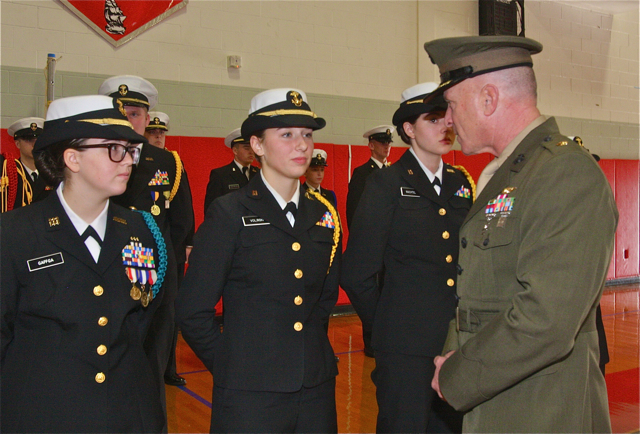 NJROTC Grigonis 2015 inspection