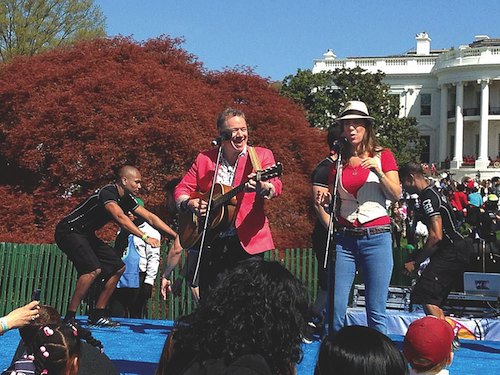 Brady Rymer performs at the White House on Monday afternoon. (  Brady Rymer photo credit)