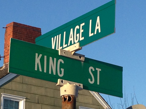 The intersection of Village Lane and King Street in Orient (Cyndi Murray photo)