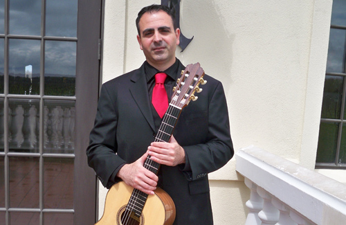 Guitarist Vito Genna of Fuerza Flamenca, which will be performing at Bedell Cellars today.