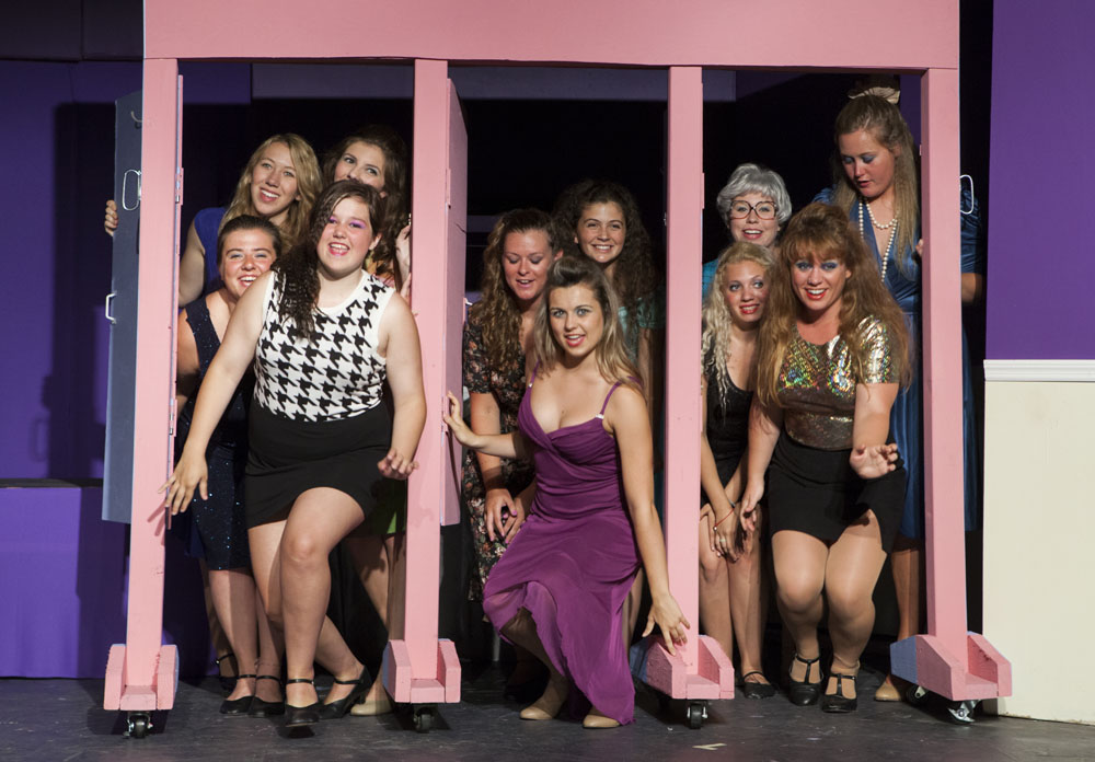 "The North Fork Community Theatre in Mattituck rehearses this summer's Youth on Stage musical, ""The Wedding Singer."""