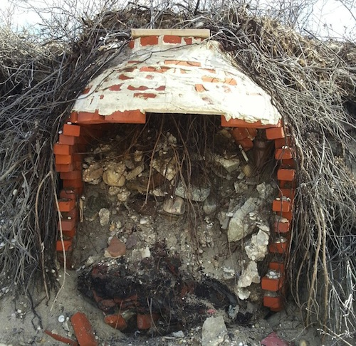 Mysterious brick oven-like objects found near Goldsmith Inlet in Peconic. (Courtesy photo)