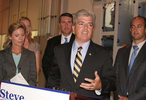 Environmentalists say Suffolk County's 2014 budget illegally used nearly $33 million in dedicated funds. Pictured: Suffolk County Executive Steve Bellone (Credit: Jennifer Gustavson file photo.)