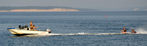 TIM KELLY FILE PHOTO | Boaters enjoying a day out on the Peconic Bay last summer.
