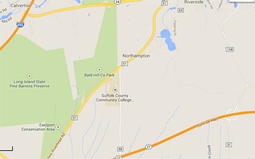 Two accidents were reported on County Road 51 early Saturday morning. (Credit: Google Maps)