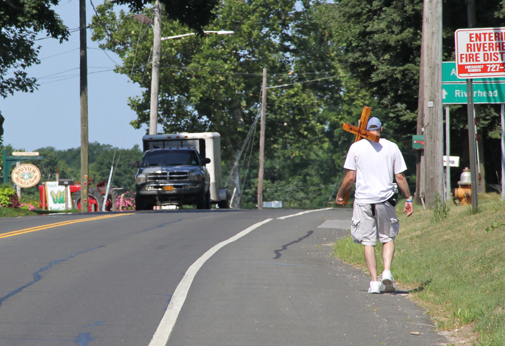 Friday was the start of one man's three-day journey. (Credit: Carrie Miller)
