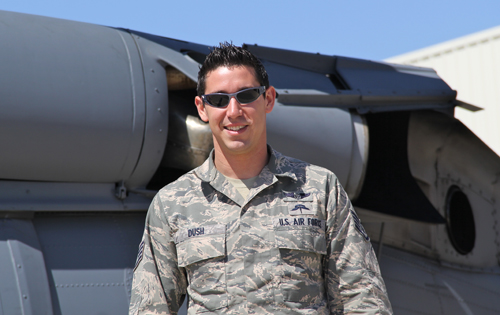 U.S. Air National Guardsman Ryan Dush (Credit: Carrie Miller)