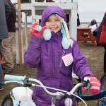 Cee Cee Abbott, 8, of Mattituck was the first to discover a bicycle-winning egg.