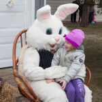 Rachel Kubetz, 5, of Laurel chats with the Easter Bunny.