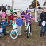 Bicycle winners (from left):  Matthew and Joshua Messina, 2, of Mattituck; Hannah Boyd, 5, of Cutchogue; Cee Cee Abbott, 8, of Mattituck; Eva Harkin, 9, of Mattituck.
