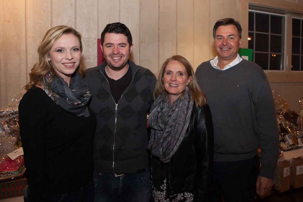 Suffolk County legislator Al Krupski, right, with (from left) Rachael Bracken, fiancé Nick Krupski, and Mary Krupski.