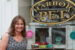 Harbor Pet boutique owner Kimberly Loper outside her current location on Front Street. (Credit: Courtesy)