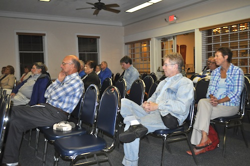 Dozens of Southold residents gathered to learn about the town's new ad hoc civic committee.  (Cyndi Murray photo)