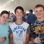 From left:  Parker Sheppard, Ethan Schmidt, and Tyler Marlborough, all of Mattituck. (Credit: Katharine Schroeder)
