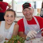 Nikki Zehner, 13, of Manorville with Artie Johnsen of Calverton. (Credit: Katharine Schroeder)