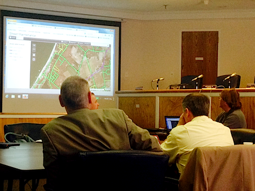 The board is hoping to add interactive maps to the Town's website. (Cyndi Murray photo)
