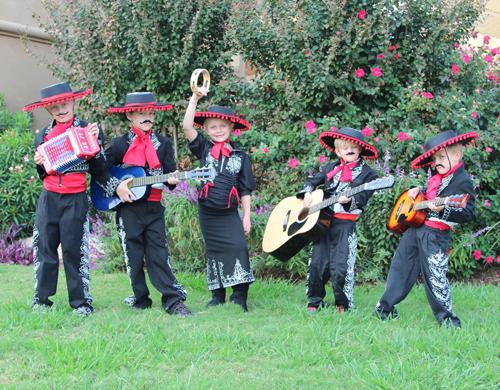 A young mariachi band.
