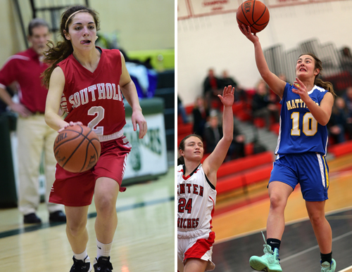 Toni Esposito of Southold and Briana Perino of Mattituck will lead their teams into the playoffs Friday. (Credit: Robert O'Rourk/Garret Meade)