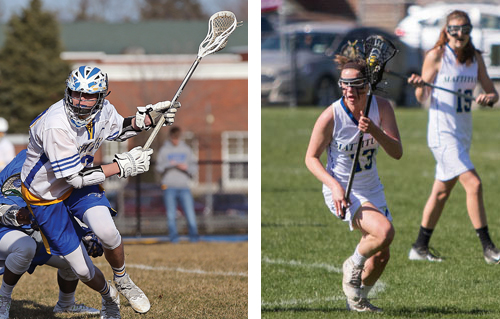 Mattituck's Tyler Siefert (left) and Chelsea Marlborough will lead their respective teams into the postseason. (Credit: Daniel DeMato/Katharine Schroeder)