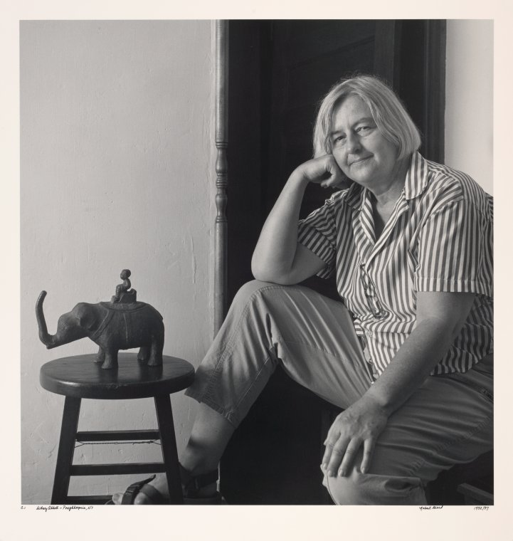 Sidney Abbott in a 1992 photo by Robert Giard. (Credit: New York Public Library Collection)