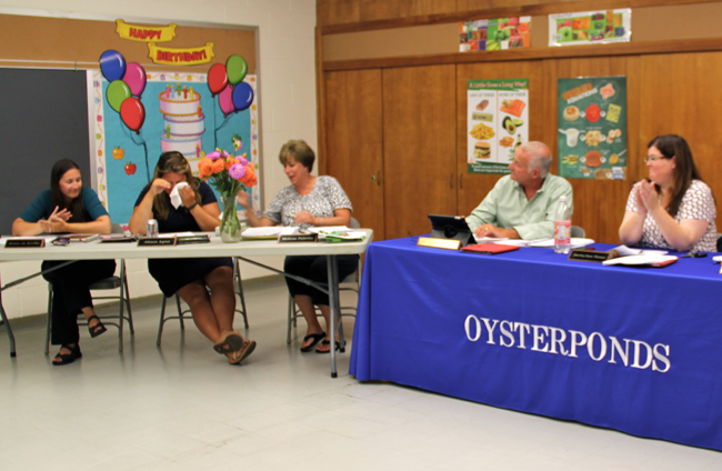 The Oysterponds School Board says goodbye to member (Credit: Claire Leaden)