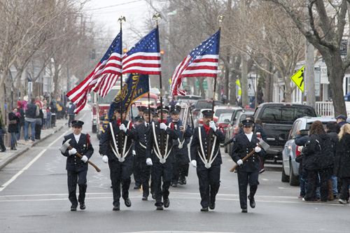 KATHERING SCHROEDER PHOTO | Greenport's 168th annual Washington's Birthday parade last year on Feb. 16.