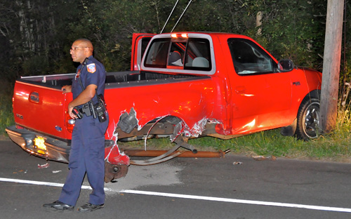 COURTESY PHOTO | One of two car's involved in Thursday night's crash.