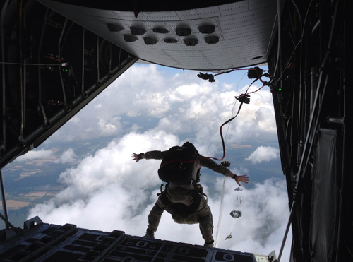U.S. Air National Guardsman Ryan Dush of Mattituck during a training exercise (Credit: Courtesy)