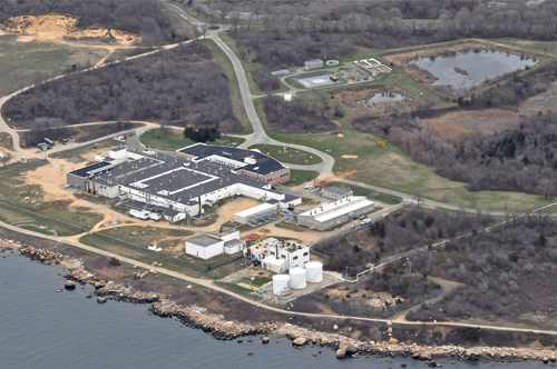An aerial view of Plum Island. (Credit: file photo)