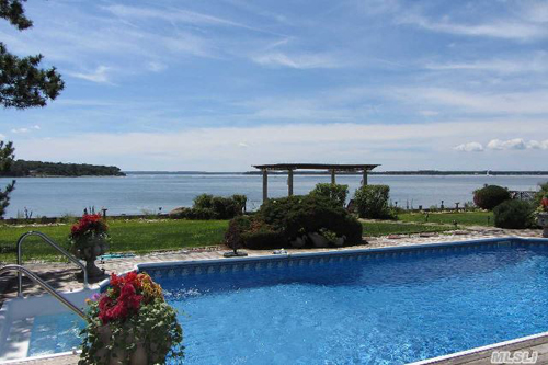 The pool on a property in Southold.