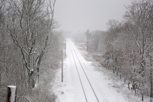 Railroad overpass in Southold around 8 a.m.