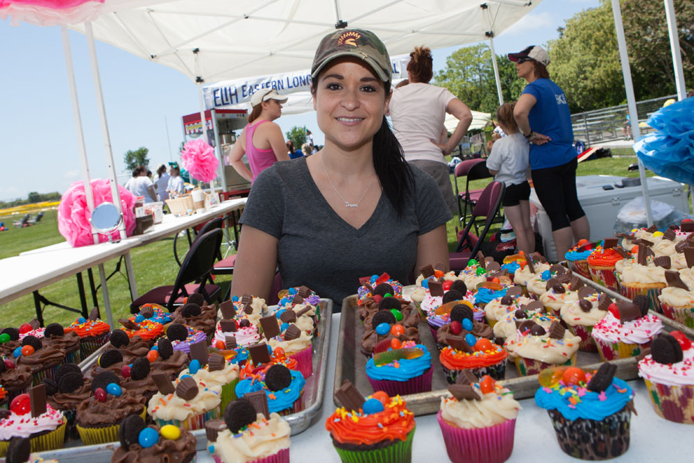 Priscilla Kavanaugh and her mom Nellie (not pictured) baked and decorated dozens of cupcakes. (Credit: Katharine Schroeder)