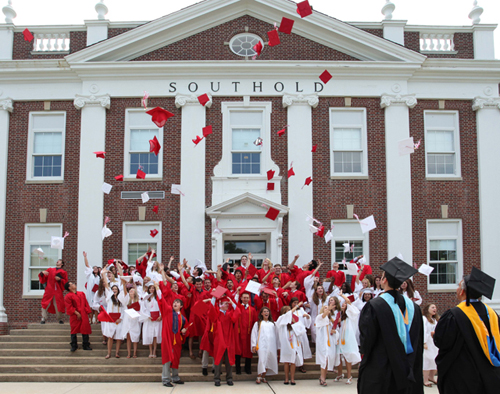 KATHARINE SCHROEDER FILE PHOTO | Students at last year's Southold High graduation.