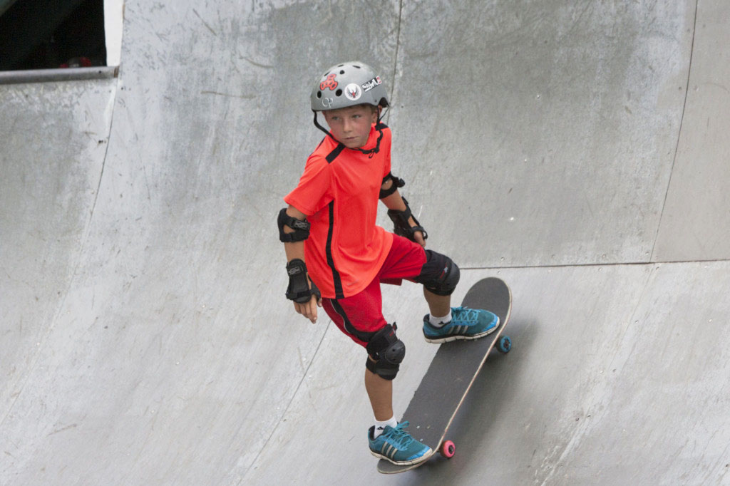 Christopher Thomas, 8, of Bay Shore skates at Sunday's festival. (Credit: Katharine Schroeder)