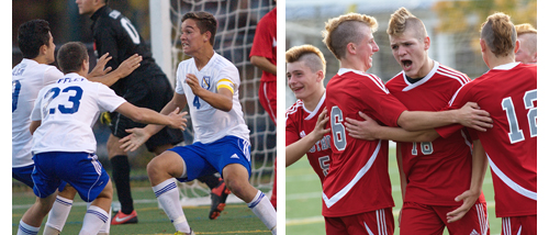 GARRET MEADE PHOTOS | Mattituck and Southold both celebrated big wins on Saturday.
