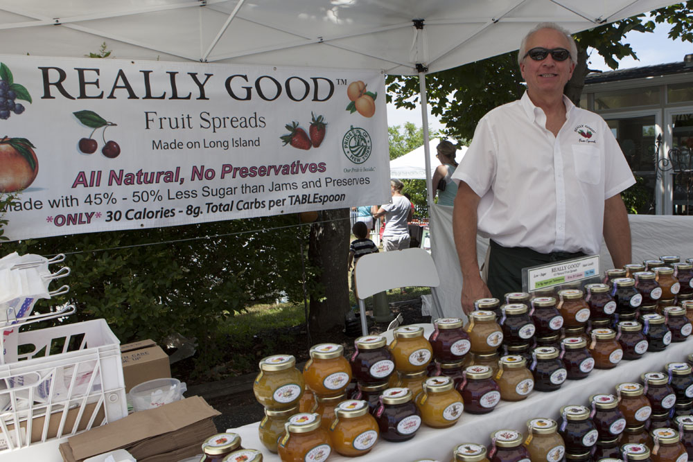 Ken Schneider from Cutchogue's Really Good Fruit Spreads. (Credit: Katharine Schroeder)