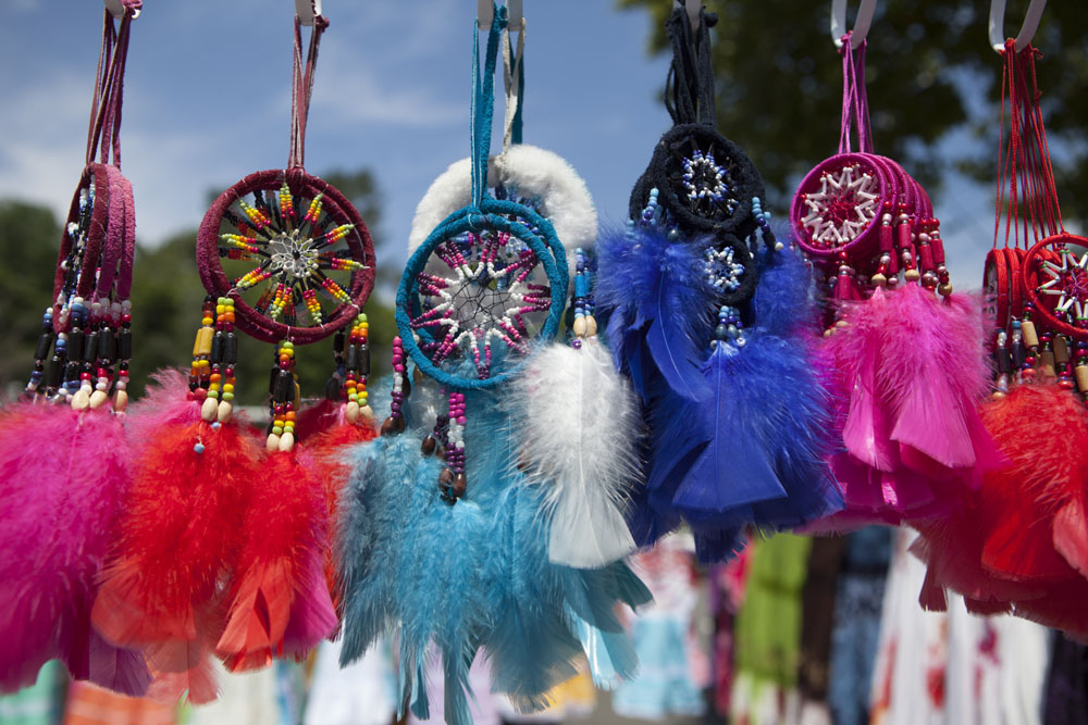 Dreamcatchers for sale. (Credit: Katharine Schroeder)