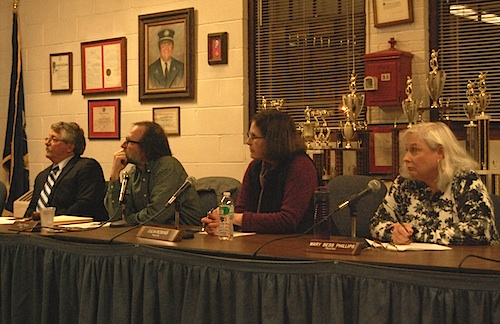 Greenport board members approved a new union contract Monday. (Cyndi Murray photo)